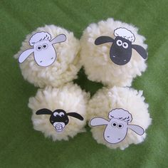 Cute lambs - easter decorations or farm party decoration. Shaun the sheep. Farm Party Decorations, Diy For Kids, Crafts For Kids, Lamb Craft, Cute Lamb, Family Day Care, Creative Kids, Spring Crafts, Easter Crafts