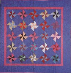 Pinwheel, 1930. Amish. Ohio. Amische Quilts, Mini Quilts, Quilting Projects, Quilting Designs, Quilting Ideas, Antique Quilts, Vintage Quilts, Couettes Amish, Amish Quilt Patterns