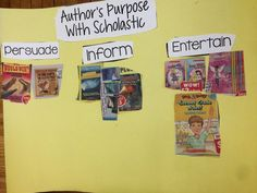 Author's Purpose with Scholastic by Create-abilities
