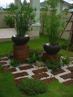 dekorative grüne topfpflanzen für den garten - Gartengestaltung: 60 fantastische Garten Ideen