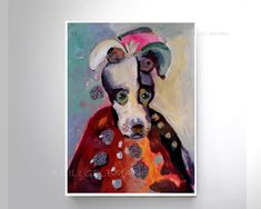 Excited to share the latest addition to my shop: Portriat Dog Painting ~ Dog Mom from Amili Ge Dog Paintings, Painting Prints, Wall Art Prints, Original Paintings, Modern Art Prints, Whimsical Art, Art Reproductions, Beautiful Paintings, Dog Mom
