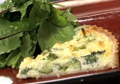 Delicious Broccoli and Goat Cheese Quiche Recipe.. if you just 'assume' that you won't like goat cheese, buck up and give it a try.. I love a good goat cheese!  it's lovely!