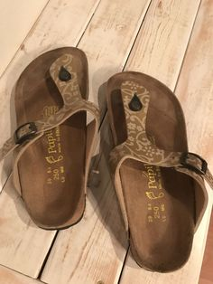 2108e1810e97 Womens Birkenstock Size 39 Gold Patterned Sandals  fashion  clothing  shoes   accessories  womensshoes  sandals