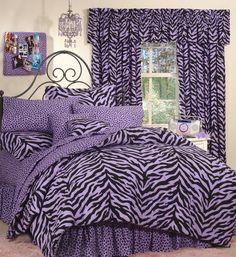 Purple Cheetah Print | purple zebra print bed in a bag