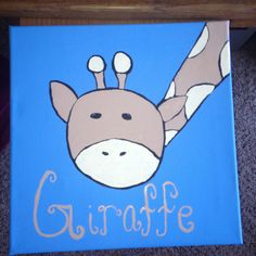 Canvas painting I made for a baby room!