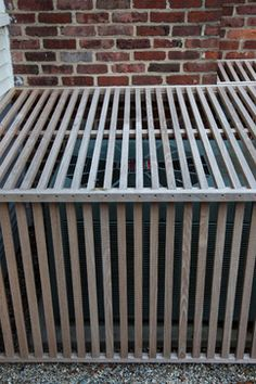 We absolutely have to do this: Create covers for our outdoor A/C unit. Lockwood Road by Matthew Cunningham Landscape Design
