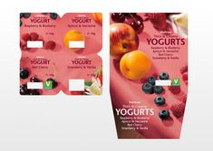 Paul Currah - Waitrose Thick & Creamy Yogurts - Graphic Design for Print, Packaging Design