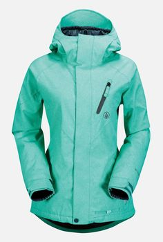 Volcom Womens Snowboard Jacket Fawn Insulated Island Green At Hansen's Surf Shop