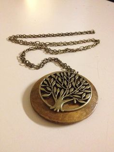 Beautiful Tree Necklace by originalsbyem on Etsy Tree Necklace, Pendant Necklace, Jewelry Art, Unique Jewelry, Tree Of Life Art, Judaism, My Etsy Shop, Trees, Handmade Gifts