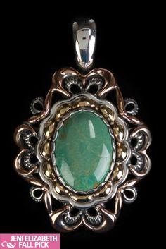 Southwest Spirit Kearny Pendant In Green Turquoise -