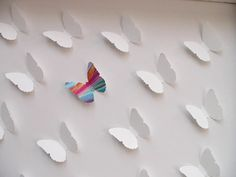 3D Wall Art  Be Yourself Butterfly  frame and glass by GirlieSmile, $50.00