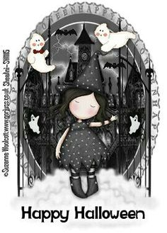 Gorjuss Trick or treat - Halloween Cute Images, Pretty Pictures, Halloween Art, Happy Halloween, Cute Dolls, Rock Art, Trick Or Treat, Cute Art, Paper Dolls
