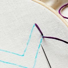 Embroidery tutorial on the Satin Stitch. Also includes link to huge embroidery tutorial library.