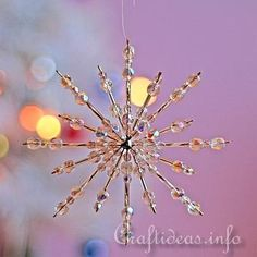 Beaded Snowflake - Clear Crystals 2
