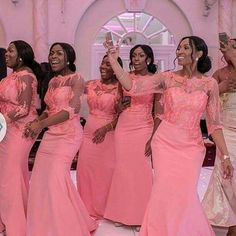 - Elegant Coral Long Bridesmaid Dress Sleeves Nigerian Wedding Ceremony Dress Maid of Hon. - Elegant Coral Long Bridesmaid Dress Sleeves Nigerian Wedding Ceremony Dress Maid of Honor …, hochzeitsgast koralle African Bridesmaid Dresses, Mermaid Bridesmaid Dresses, Bridesmaid Dresses Plus Size, Bridal Party Dresses, Lace Bridesmaids, Bridesmaid Outfit, African Dresses For Women, African Women, Dress Wedding