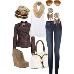 i love brown fall/winter clothes, created by haleyrob.polyvore...