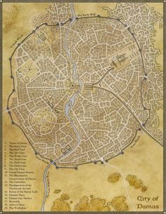 Creating a city map: step 4 - merge and colour. The roads and buildings provide a skeleton, and this steps puts flesh on it. #fantasy #map #tutorial