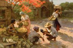 Market scene by Fernando Amorsolo.