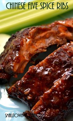 Chinese Five Spice Ribs - Small_Town_Woman Rib Recipes, Asian Recipes, Cooking Recipes, Cooking Pork, Smoker Recipes, Cooking Tips, Asian Foods, Chinese Recipes, Five Spice Recipes