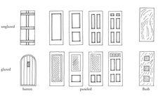 American Houses, American Traditional, Batten, Entrance Doors, Exterior Doors, Facade, Windows, History, Entry Doors