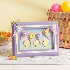 Easter pennant frame craft