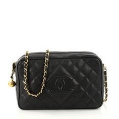 Chanel Vintage Diamond CC Camera Shoulder Bag Quilted 3074902