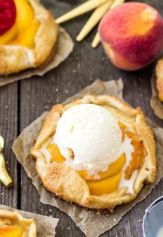 Mini Peaches and Cream Galettes