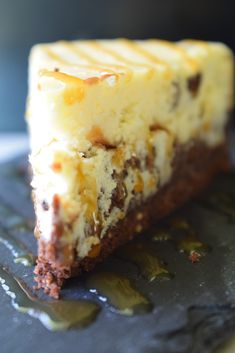 The Best Cheesecake Ever! Brownie, Cheesecake, Chocolate Chips and Caramel! Easy to make from scratch!
