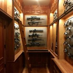 When you want the traditional look of custom wood but need the modularity of Gallow. Hidden Gun Storage, Weapon Storage, Ammo Storage, Airsoft Storage, Gun Safe Room, Gun Closet, Reloading Room, Gun Vault, Panic Rooms