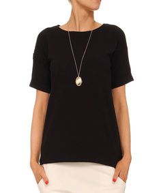 Yuliya Babich Black Basic Top | zulily