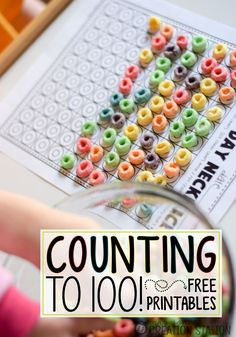 Counting to 100 - free printables for 100th day of school