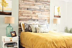 Use Pallet Wood Projects to Create Unique Home Decor Items – Hobby Is My Life Diy Headboards, Wood Headboard, Headboard Ideas, Unique Home Decor, Home Decor Items, Palette Diy, Headboard Designs, Diy Holz, Diy Pallet Projects