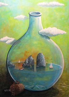 Sogno dell'isola di Capri, luogo di fascino e cultura antica. - Nel sito artistico GIUSEPPESTICCHI.IT trovi opere, gallerie, informazioni, news, eventi,...
