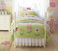 Daisy Garden Quilted Bedding Pottery Barn Kids
