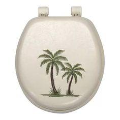 Palm Tree Soft Toilet Seat