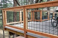 50 Awesome Deck Railing Ideas for Your Home - Page 11 of 54 Metal Deck Railing, Deck Railing Design, Fence Design, Patio Design, Railing Ideas, Porch Railings, Cable Railing, Fence Ideas, Home Porch