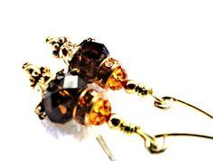 Chocolate Yum Yum earrings... by jlisiecki on Etsy, $12.00