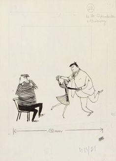 Zbigniew Piotrowski (1903 - 1963) Fizia Pończoszanka, 1960 r., ilustracja do s. 82  Aukcja Komiksu i Ilustracji, dom aukcyjny DESA Unicum, 13 listopada 2014