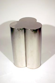 Curtis Jere; Chromed Metal Custom Side Table, 1970s.