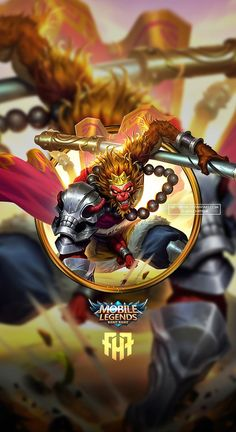 Wallpaper Sun Monkey King Skin Mobile Legends HD for Android and iOS Sun Wallpaper Hd, Phone Wallpaper Design, Mobile Legend Wallpaper, Hero Wallpaper, Cellphone Wallpaper, Phone Wallpapers, Mobiles, King Mobile, Bruno Mobile Legends