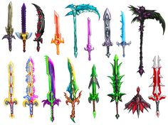 Some really cool weapons in terraria.