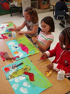 These are so gorgeous! Eric Carle is a fabulous author and illustrator of children's literature. The students are all familiar with his books so he is a great way to connect art and reading.