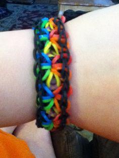 New starburst rainbow loom bracelet! :)