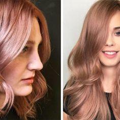 El cabello rosa-dorado es la tendencia más hermosa que ha llegado a Instagram