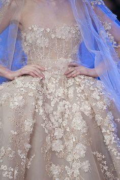 Floral details at Elie Saab Haute Couture