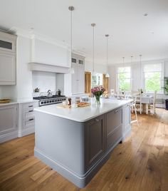 A beautiful In-frame bespoke kitchen design from Heathfield. From Jones Britain's exclusive range of furniture. Come in & visit the showroom to start your new project. Bespoke Kitchens, Barn Lighting, East Sussex, Showroom, Kitchen Design, Range, Lights, Traditional, Interior Design