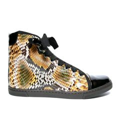 High-Top Python Sneakers For Being Super Snakey