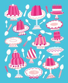 Jacqui Lee Illustration   Two jelly-inspired patterns.