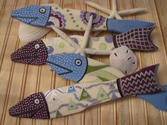 Hand Painted Fish Made From Salvaged Picket by ArtisticallyGreene, $49.00