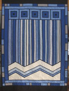 Waterfall Quilt. Frank Lloyd Wright style.